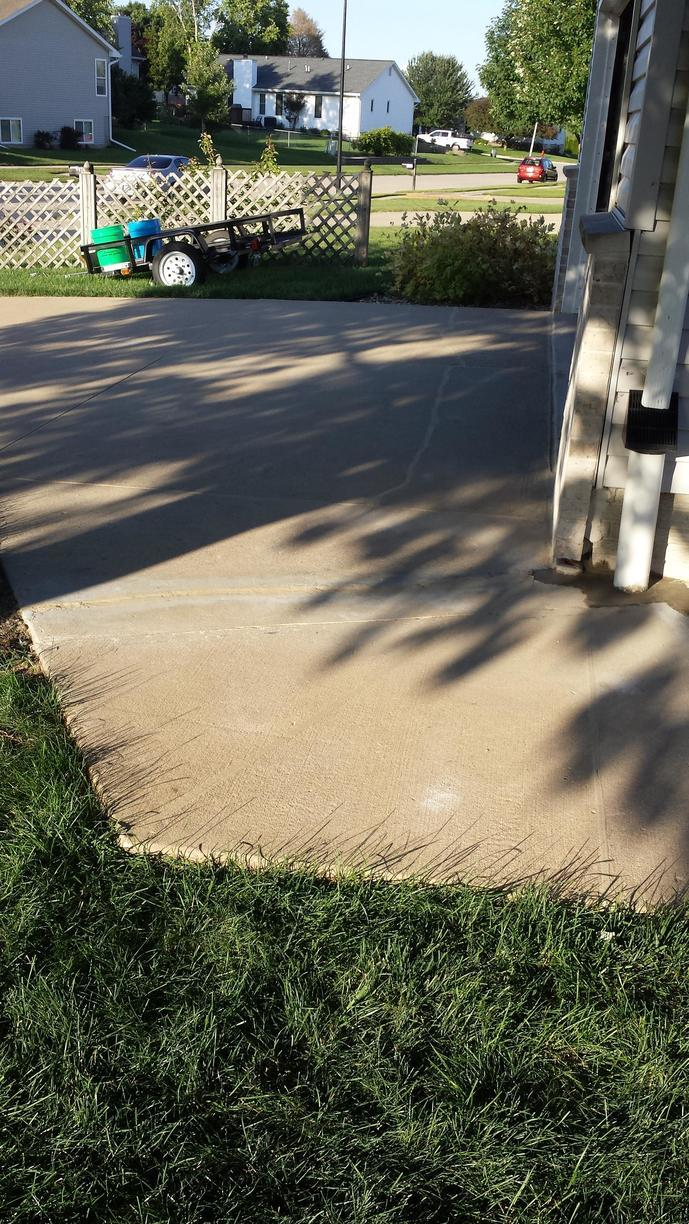 After the poly foam has fixed the large gap in the sidewalk.