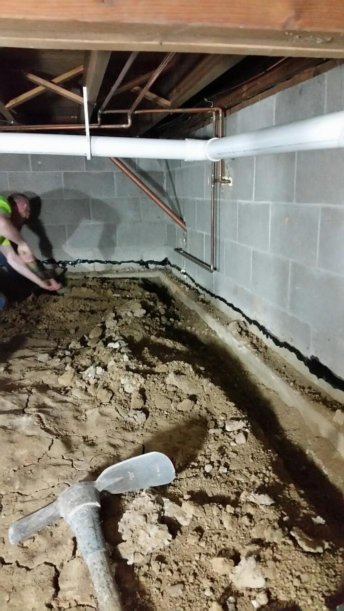 The crawlspace will be cleaned and leveled.