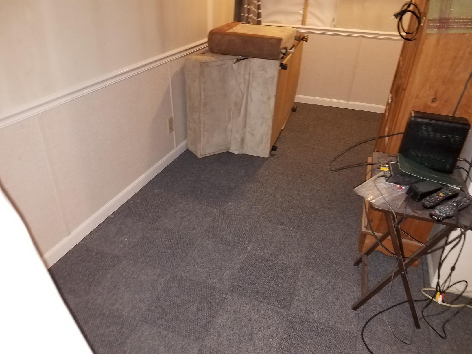 The ThermalDry flooring is made of all organic materials that will not mold or warp with water.