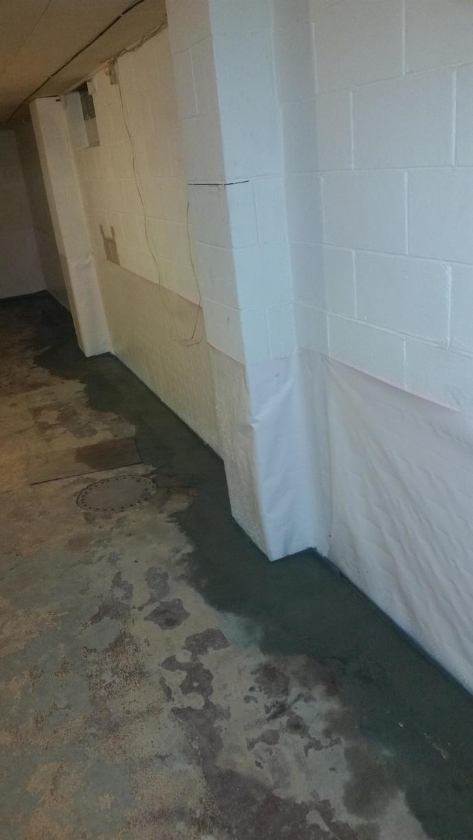 CleanSpace is a thick barrier that will help keep your basement dry.