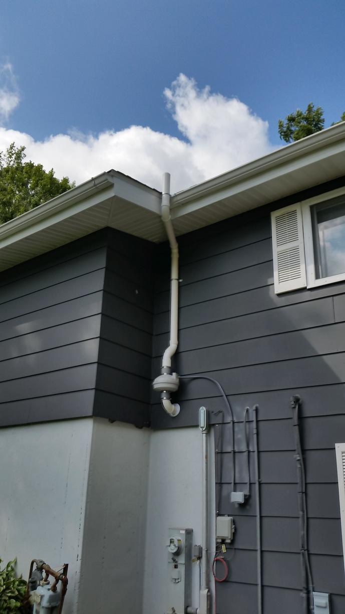 After the radon mitigation system is fully installed.