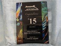 2012-2013 Foundation SupportWorks Total Sales Award