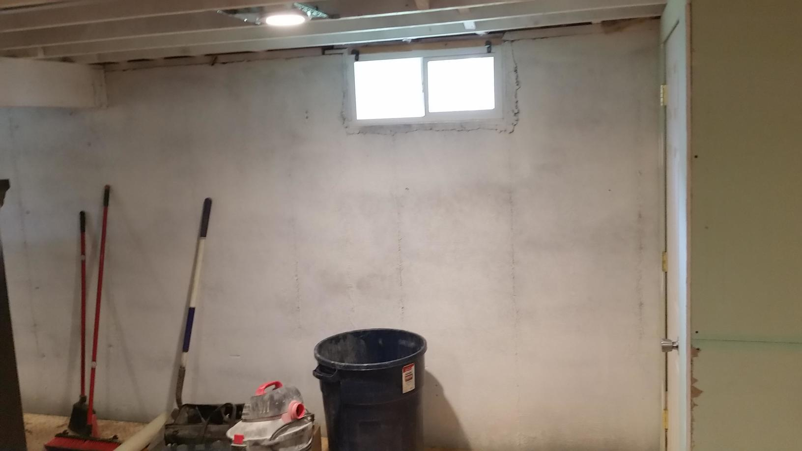 Before the wall system is added to the basement.
