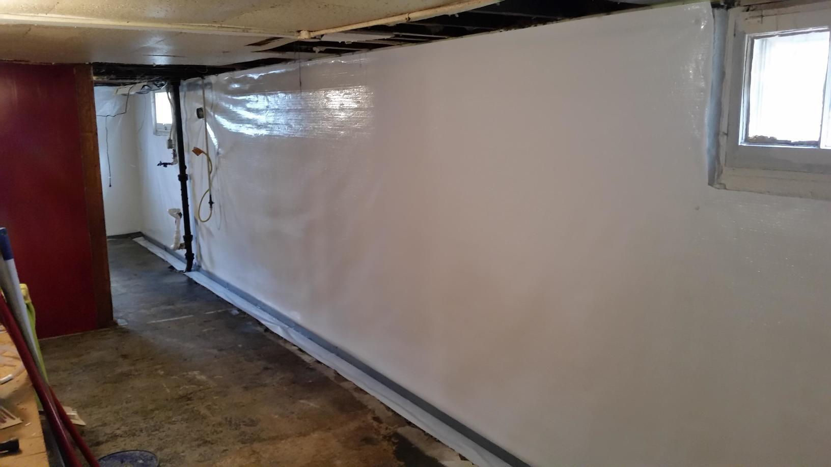 The CleanSpace walls will create a water barrier to keep the home dry.