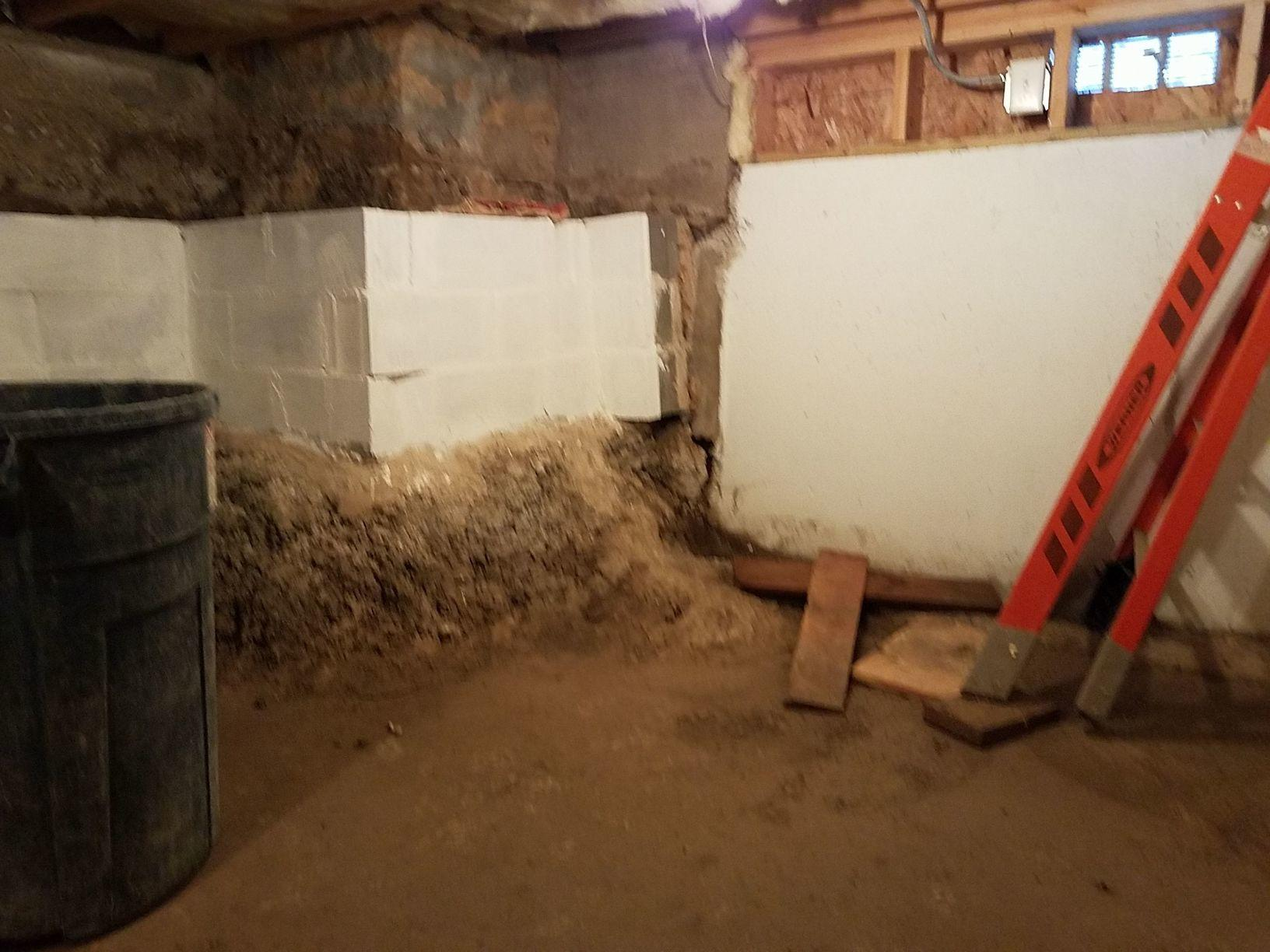 Before the basement and crawlspace were exposed and wet.