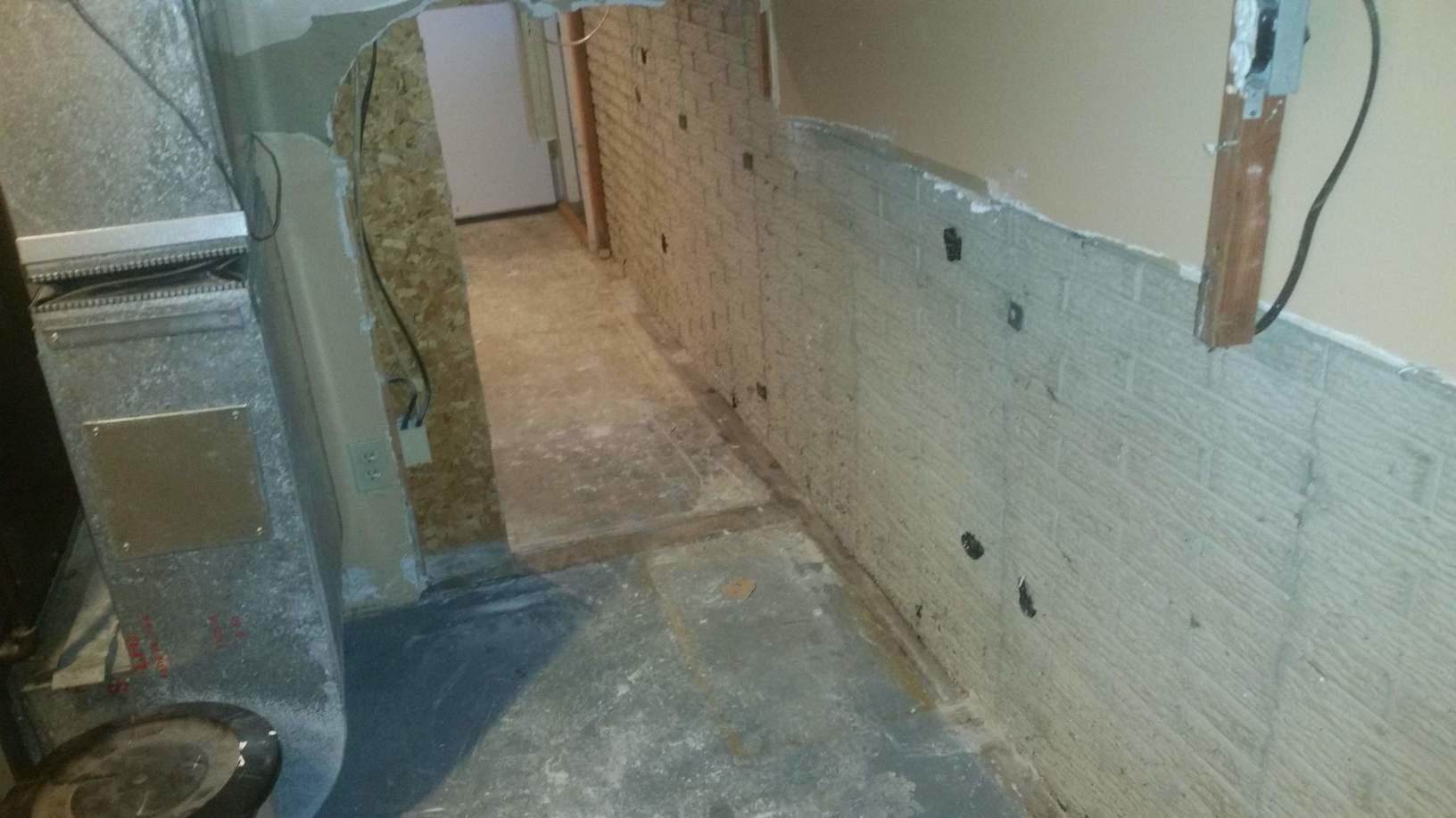 The basement before the system is installed.