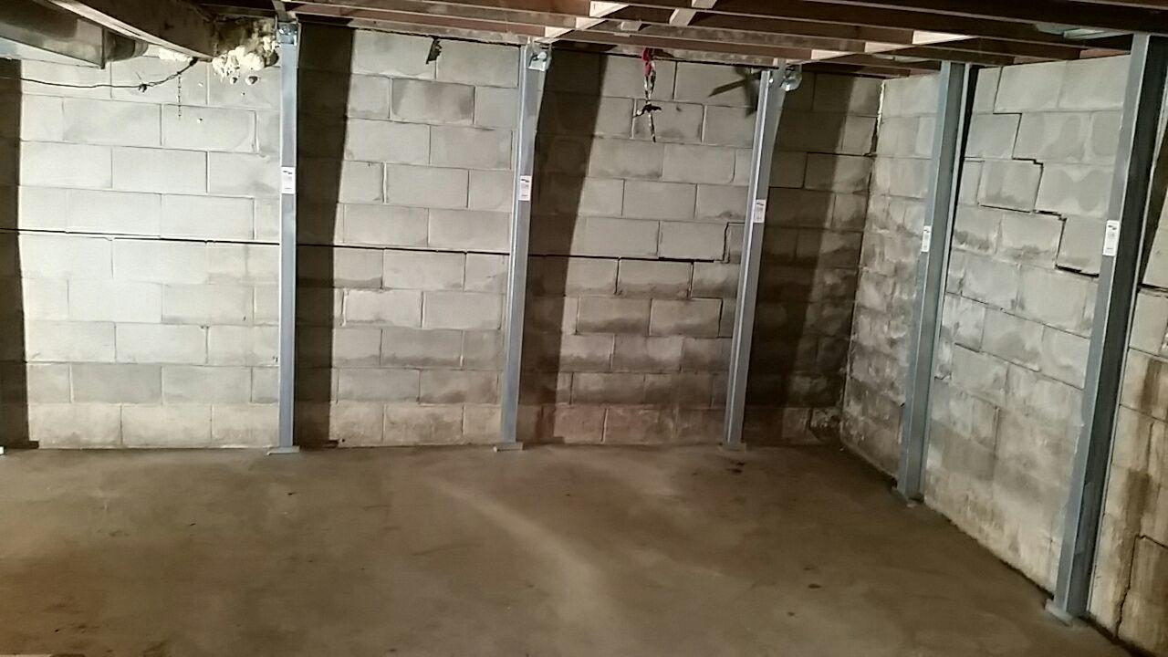 The PowerBraces will stabilize the walls to make sure the foundation is no longer at risk.