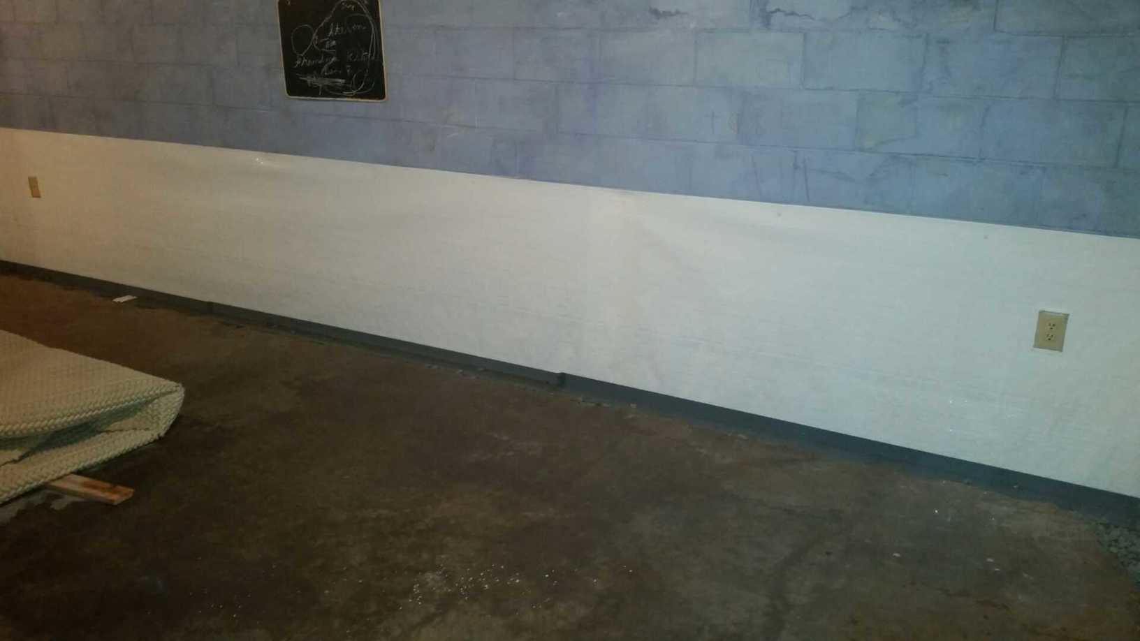 Thicker Liner that creates a durable vapor barrier for basement walls.
