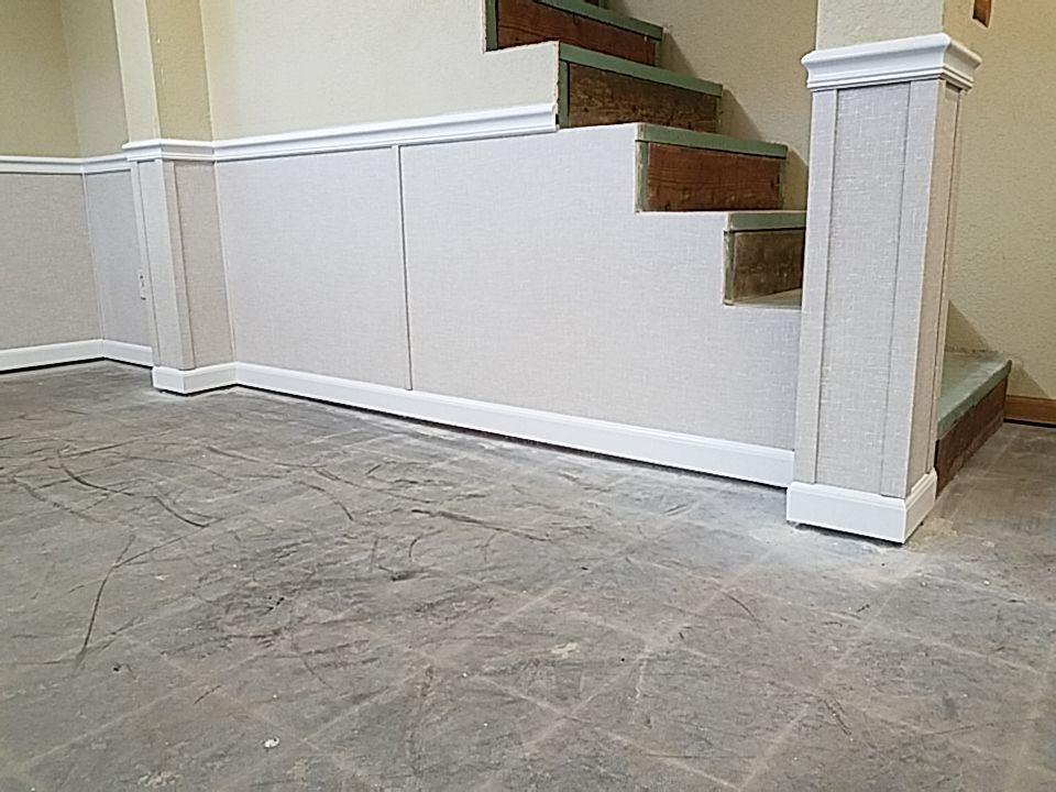The EverLast Panels are mold proof, washable, and have a vinyl finish.