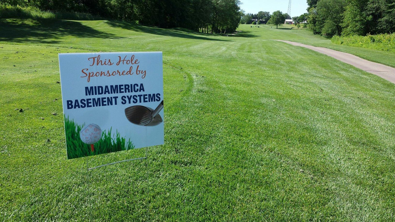 MidAmerica Basement Systems sponsored the 7th Hole at the annual Quad Cities Builders & Remodelers golf outing.