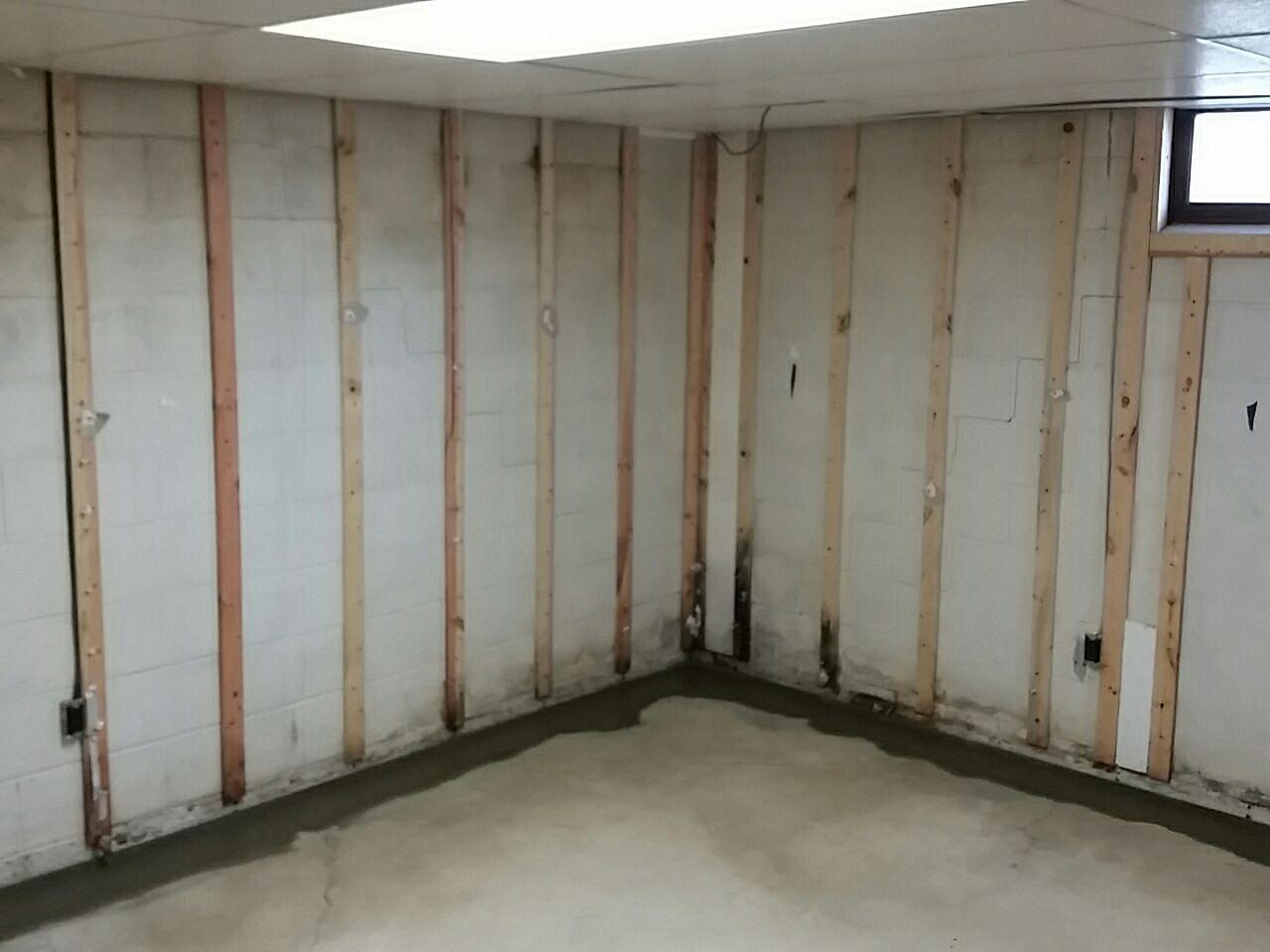The system intercepts water and drains it safely to the TripleSafe Sump Pump to be pumped out of the basement.
