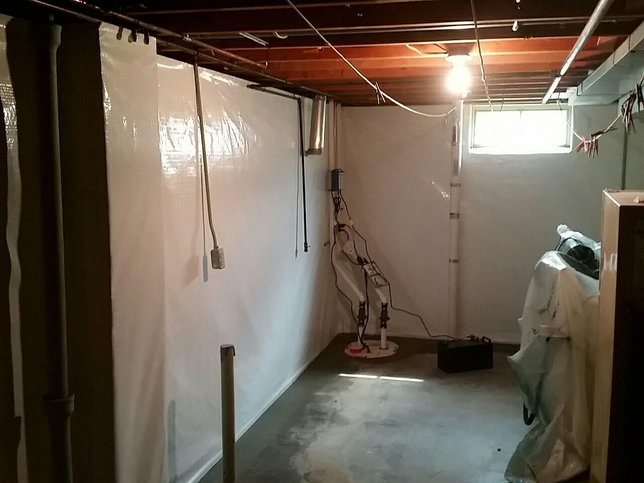 CleanSpace and WaterGuard are installed around the basement perimeter, allowing the space to still be used for recreational or storage purposes.