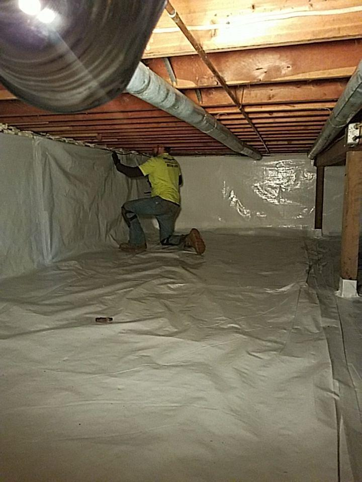 It is a fast and economical way to cover up an ugly basement or crawlspace walls.