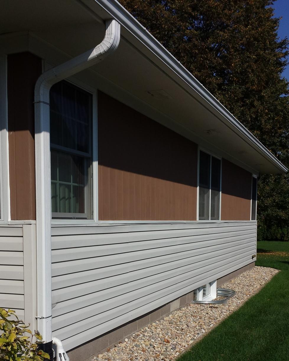 East side of the home prior to Radon installation.