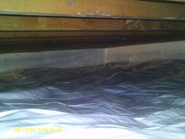 CleanSpace Liners fitted into tight crawl spaces.