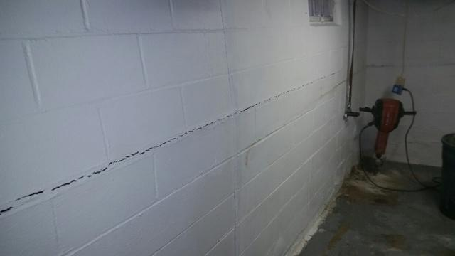 Sterling, IL Basement Stabilization - Before Photo