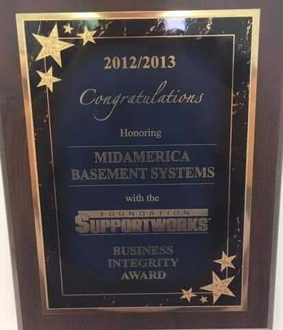 2012 2013 Foundation SupportWorks Business Integrity Award