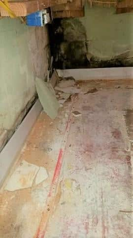 Leaking, Molding Basement Becomes Dry in Leland, IL - Before Photo
