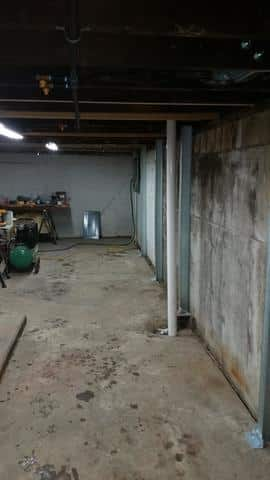 PowerBraces Support Basement Walls in Ottawa, IL - After Photo