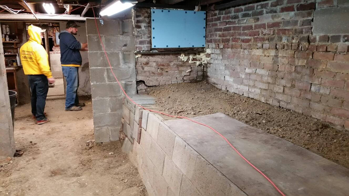 The basement is older and has been subject to years and years of water damage.