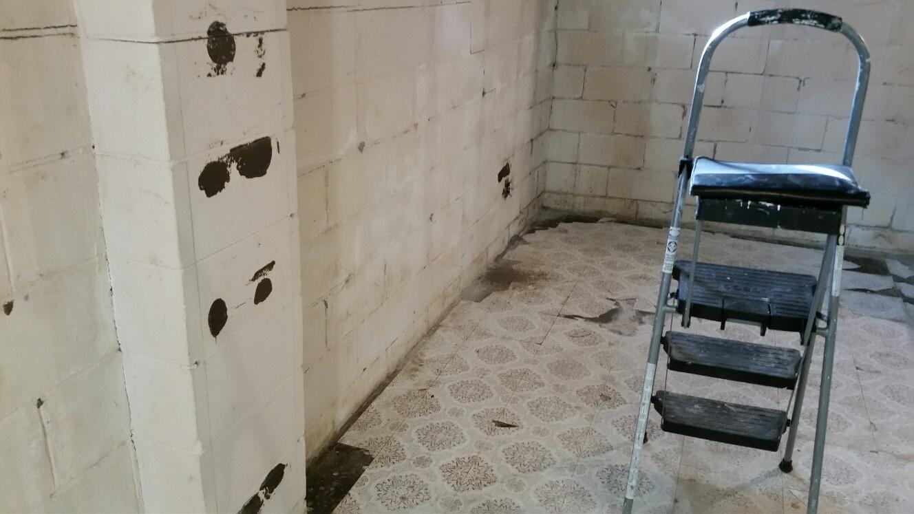 This basement had repeated water intrusion which was damaging the integrity of the basement.