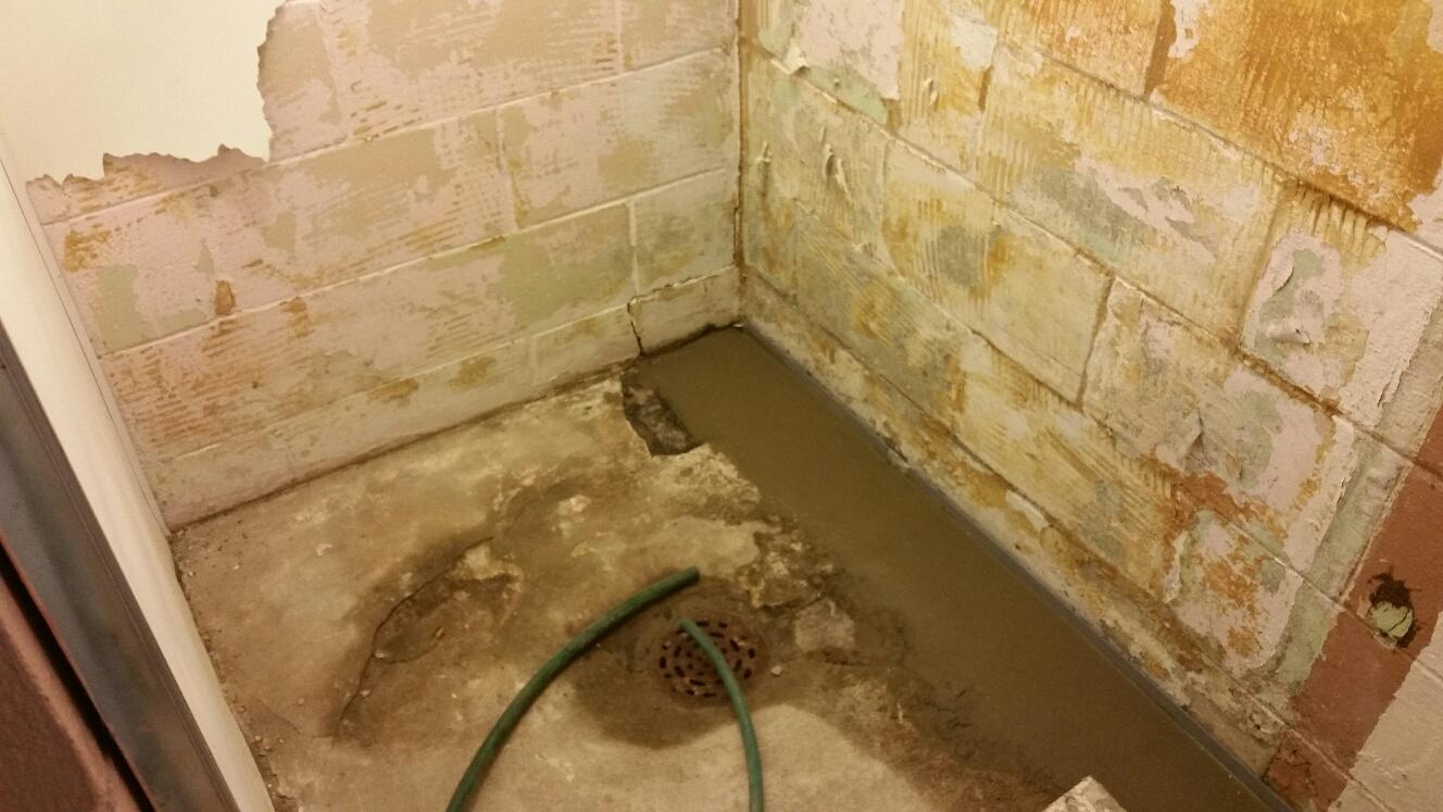 Now the area will no longer have water damage thanks to the WaterGuard drainage system.