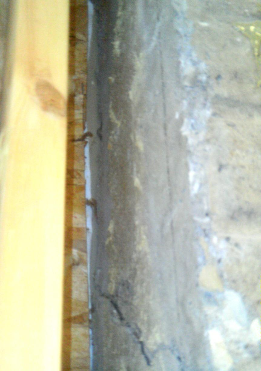 Cracks were allowing water to come in and run down the basement walls and onto the foundation floor.