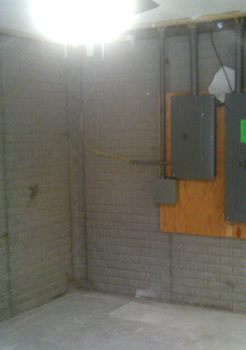 The area of the space designated for the installation of the new and improved sump pump, SuperSump!