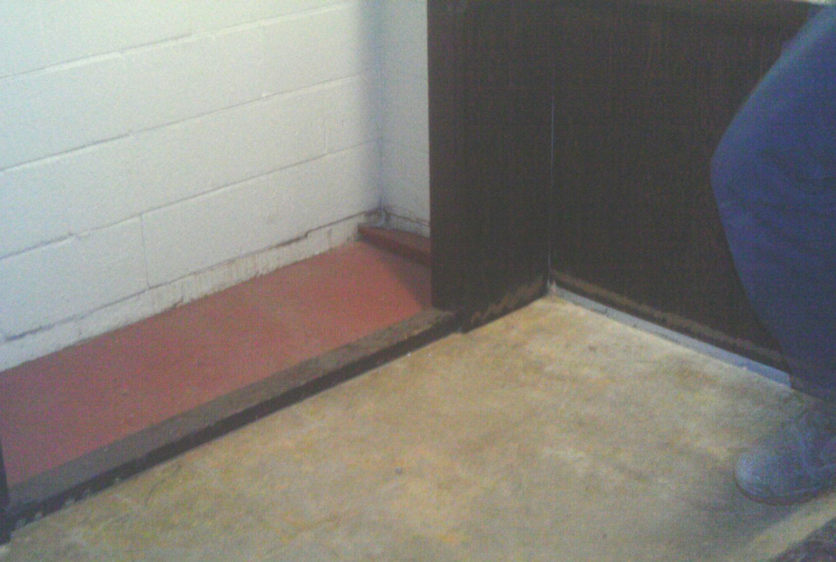 Part of the perimeter before waterproofing.