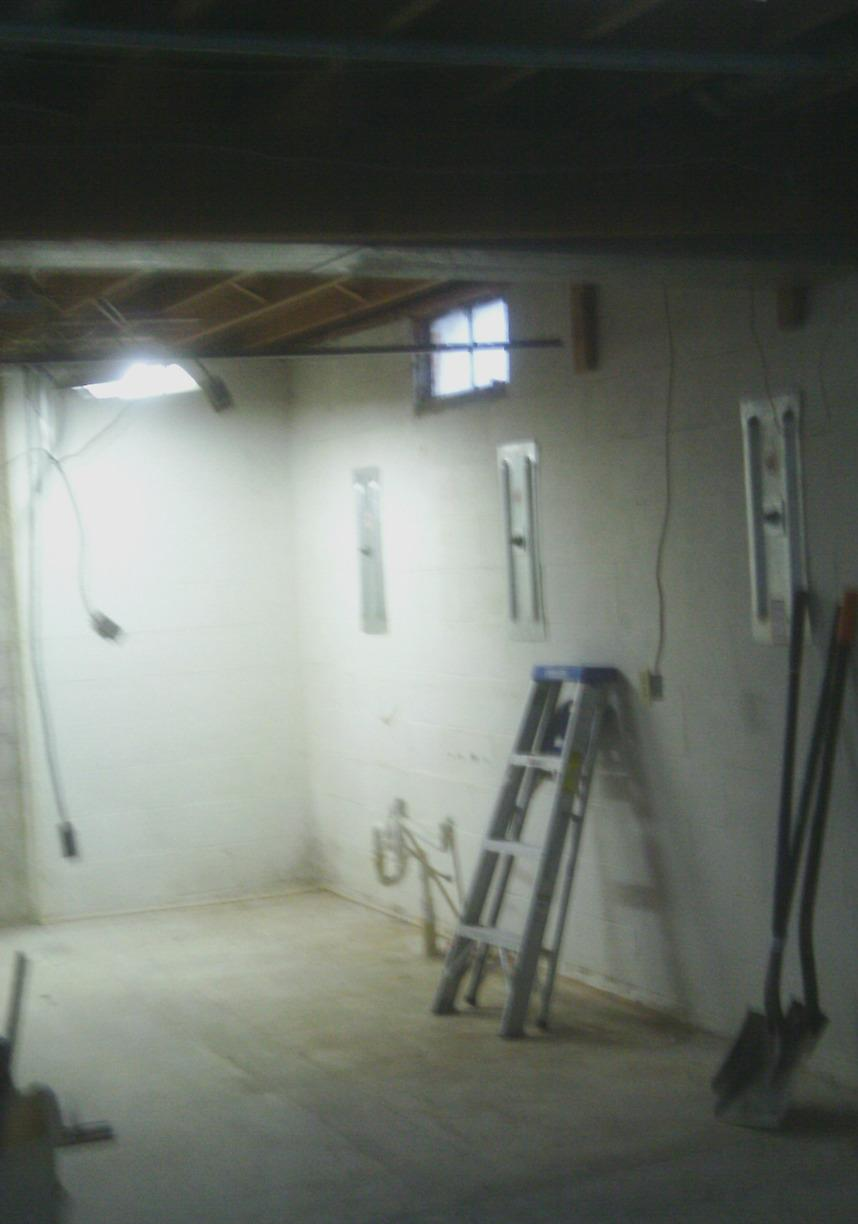 The team used wall anchors to permanently stabilize the foundation walls.