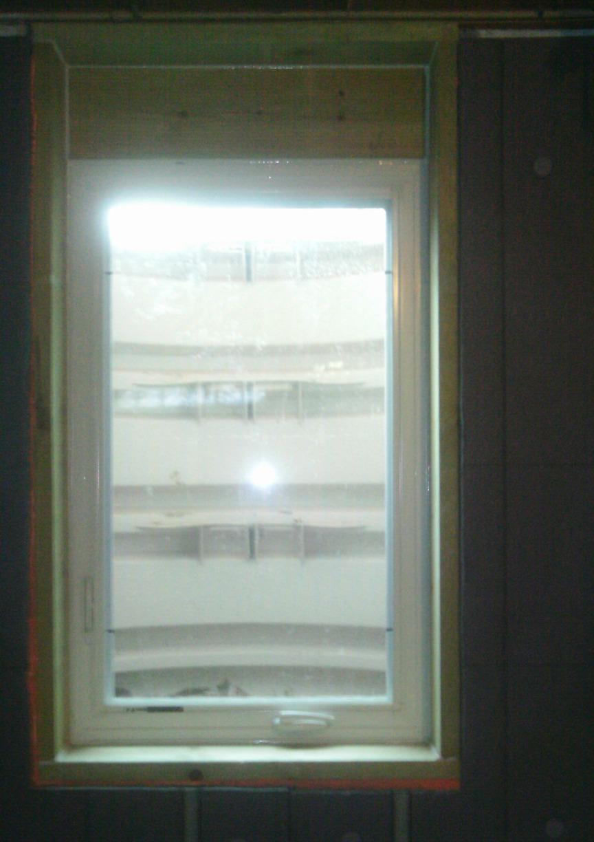 The inside view from the newly installed StakWEL windows shows the the amount of natural light flooding into the space.