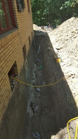 Push Pier Installation for a Peru, IL Home - Before Photo