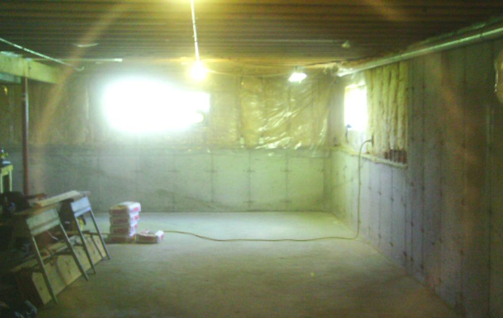 The basement before had repeated water seepage.