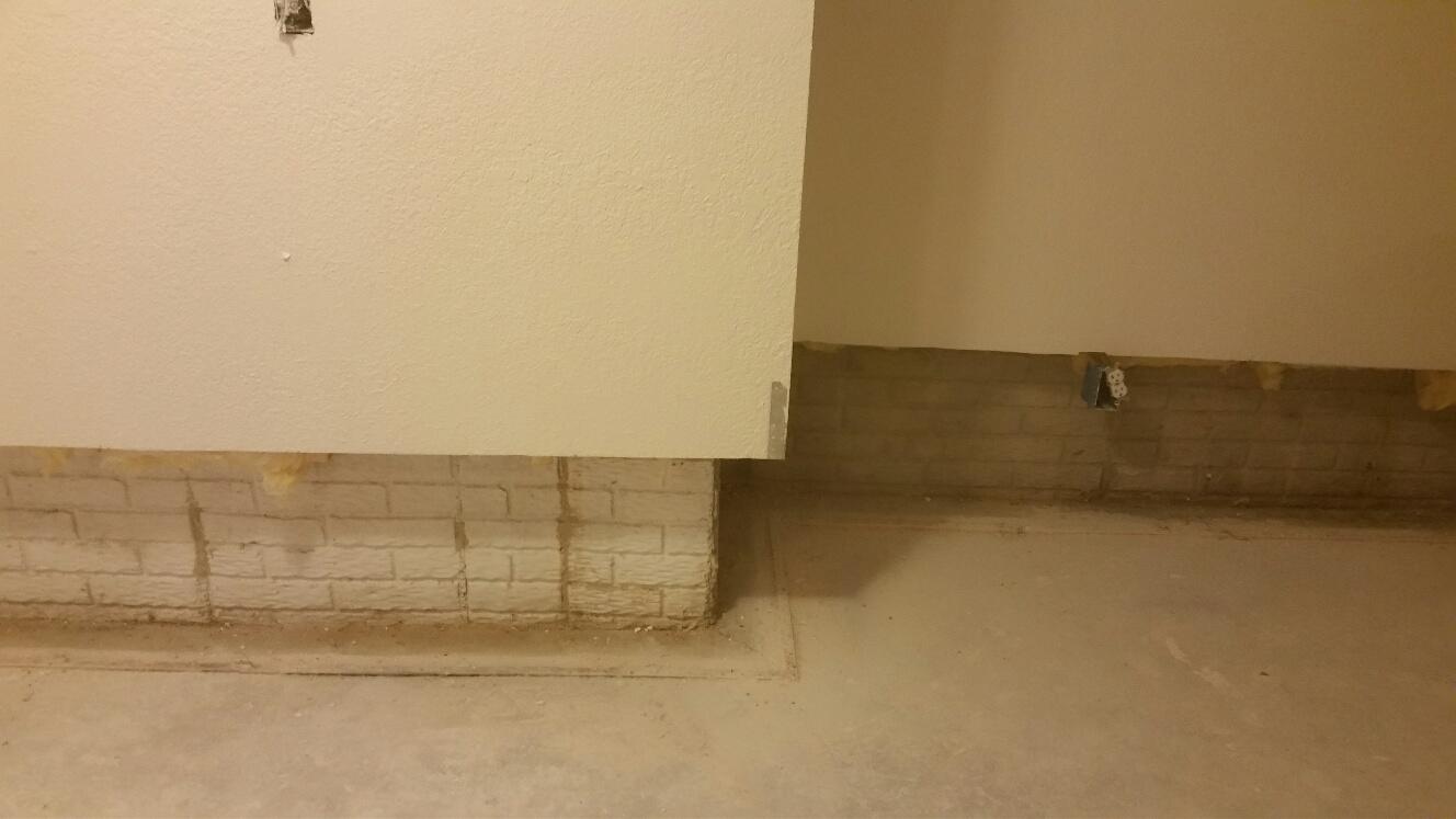 The perimeter before waterproofing was vulnerable to leaks.