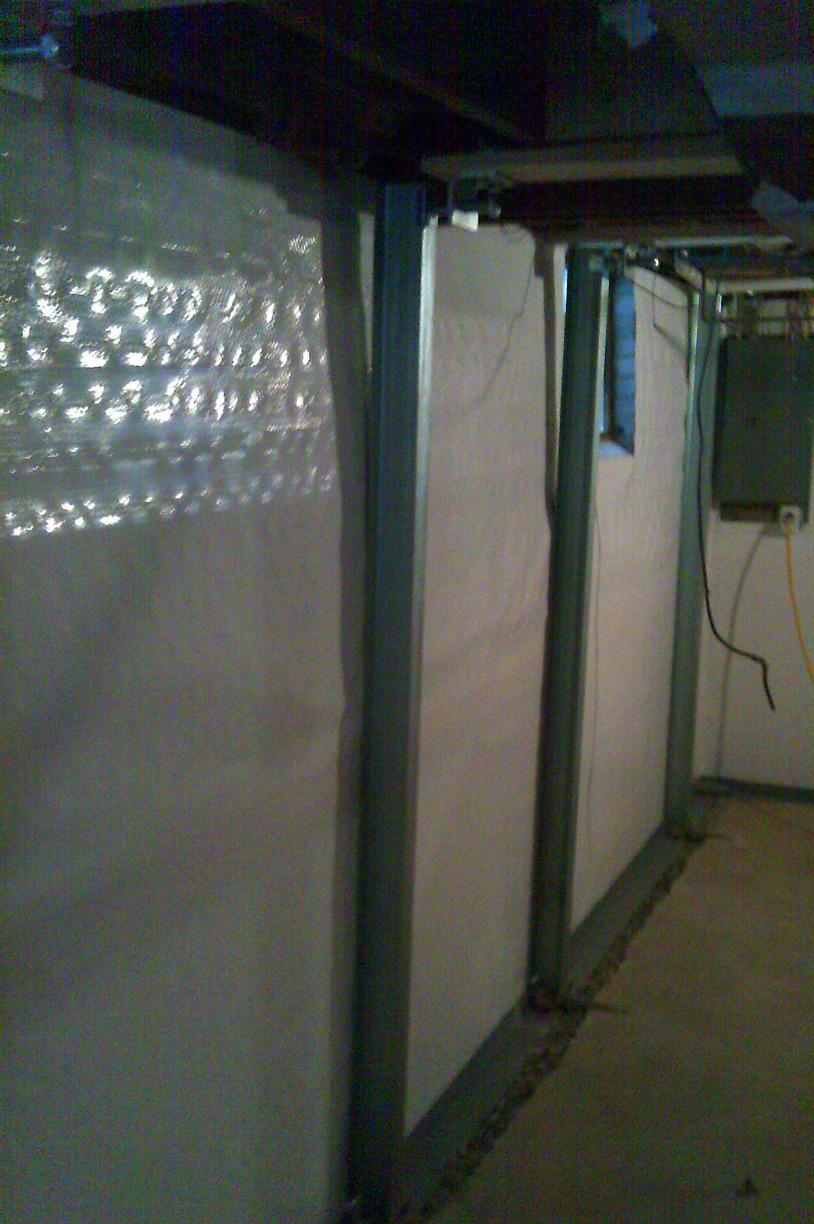 PowerBrace system is designed to to support basement walls.