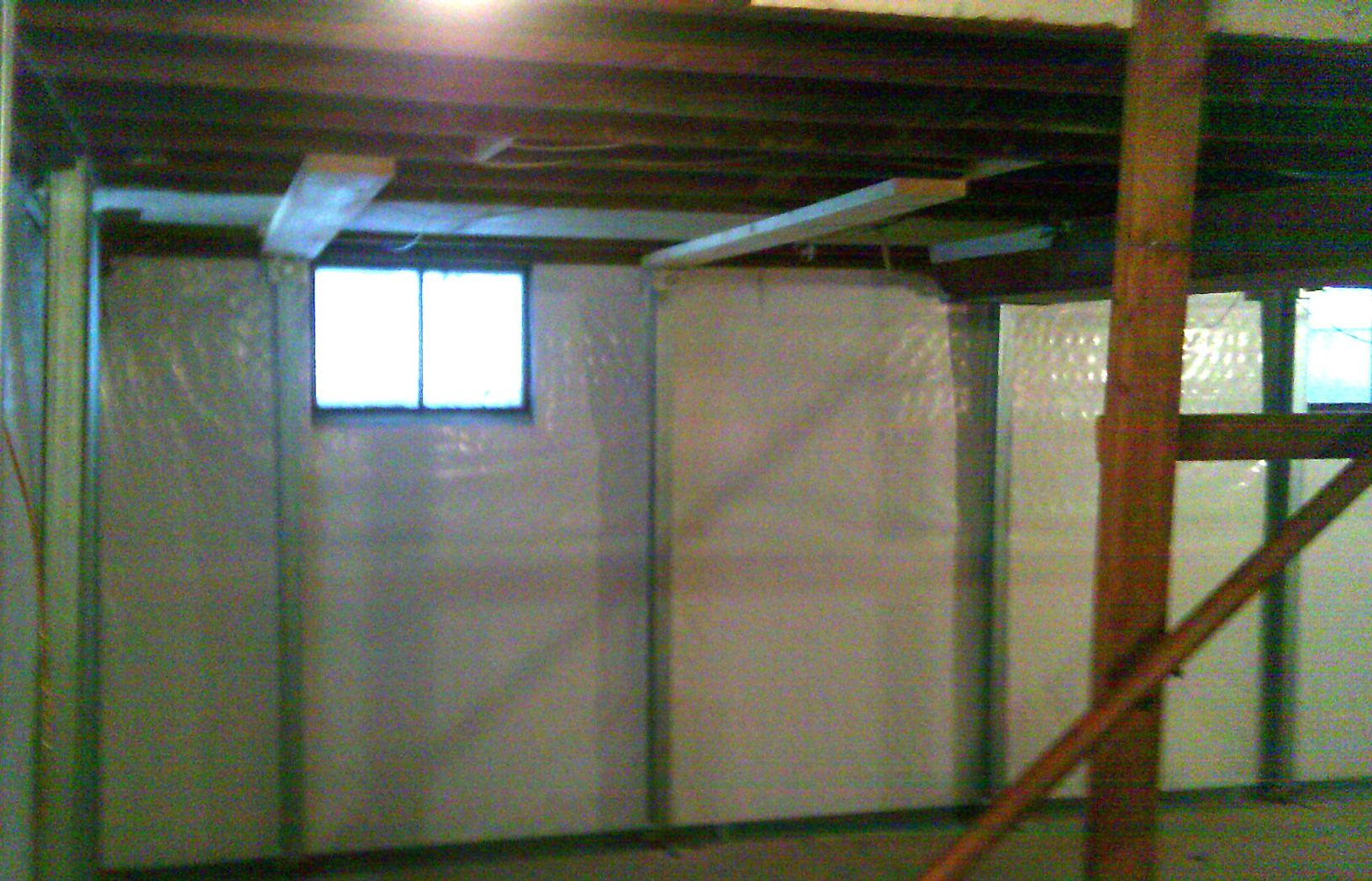 With the installation of patented products, this basement is dryer and safer.