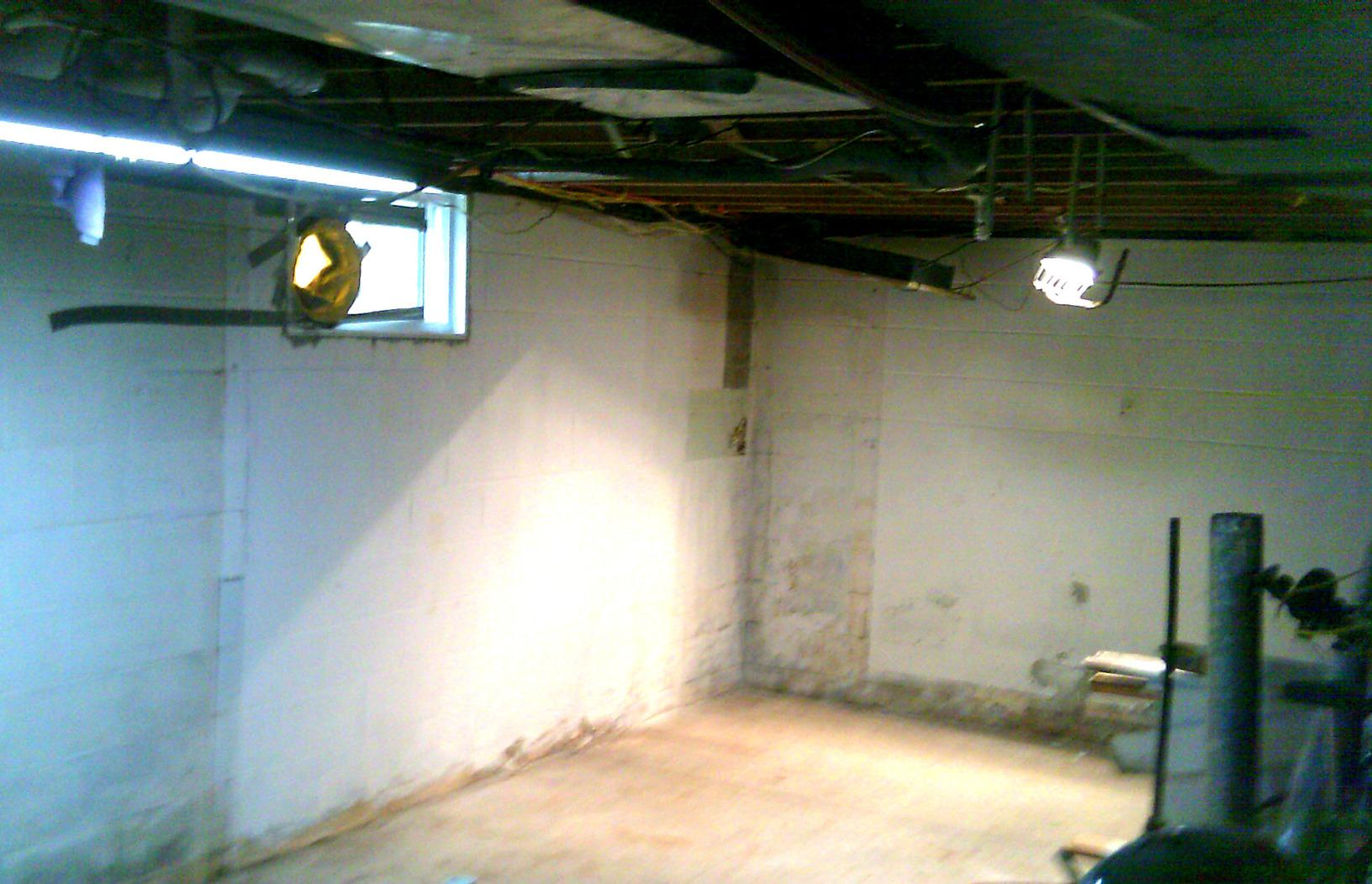The basement before any installations.