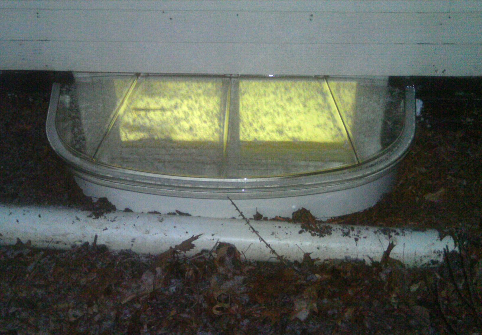 Covered window wells will help keep rain, snow, and debris out of your window wells.