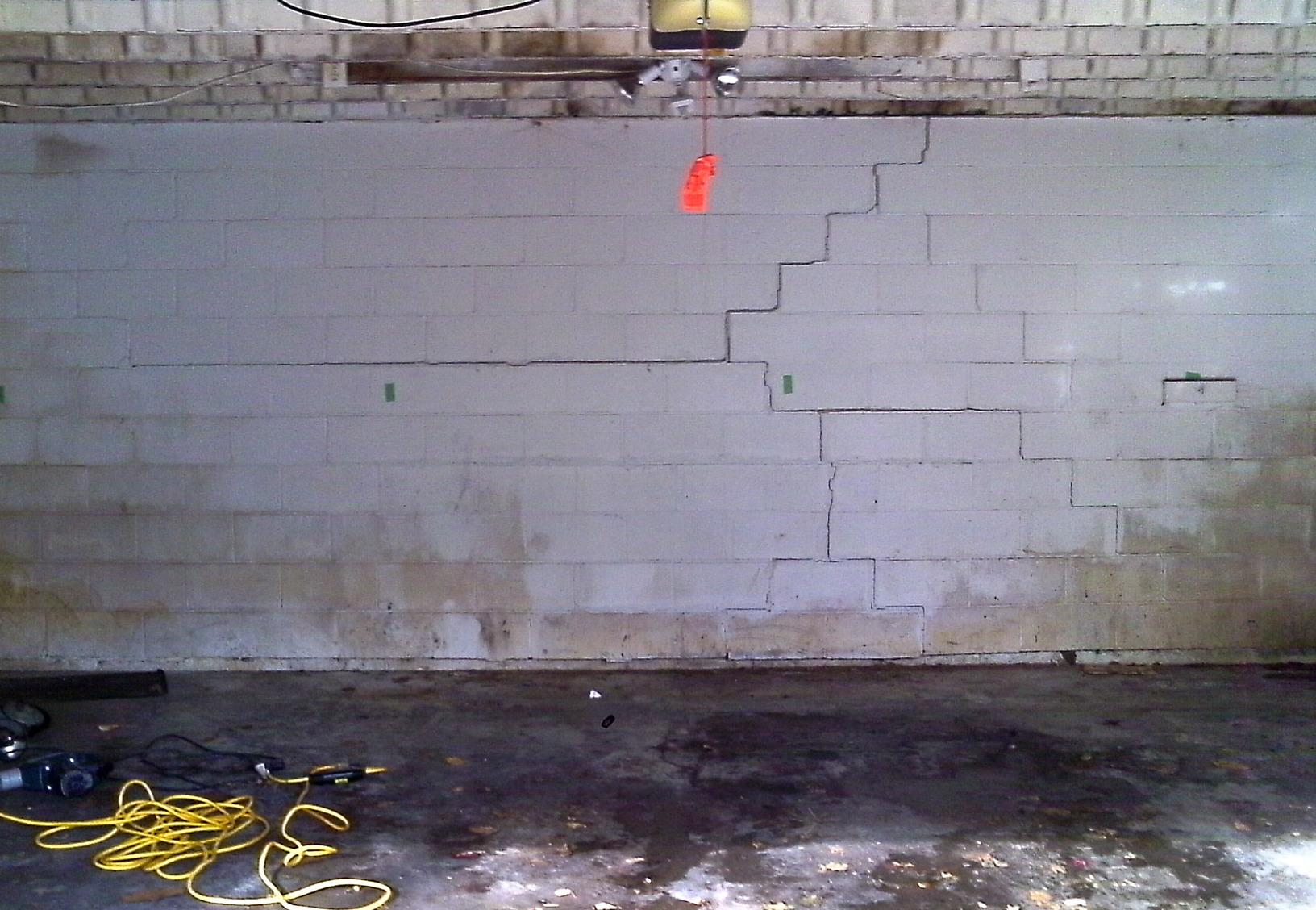 Bowing walls are a result of hydrostatic pressure causing the walls to bow inwards and cracks are always a great indicator of compromised foundation walls.