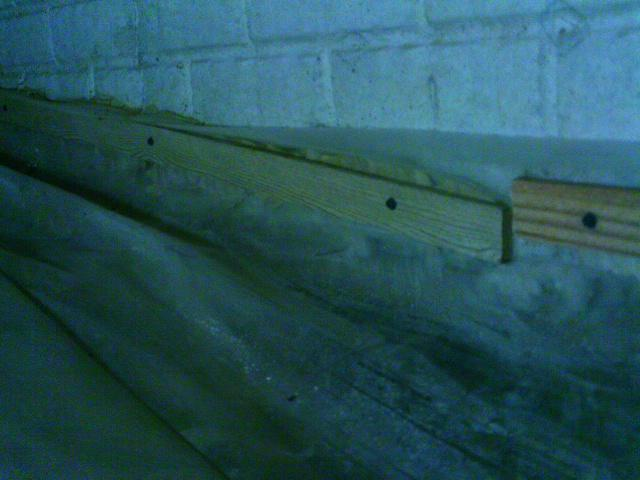 By securing the liner lower, wall leaks played part in causing water intrusion.