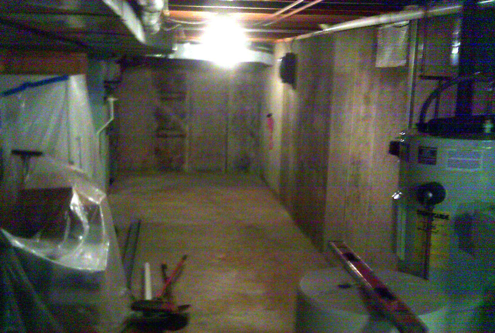 The basement was consistently damp and unpleasant.