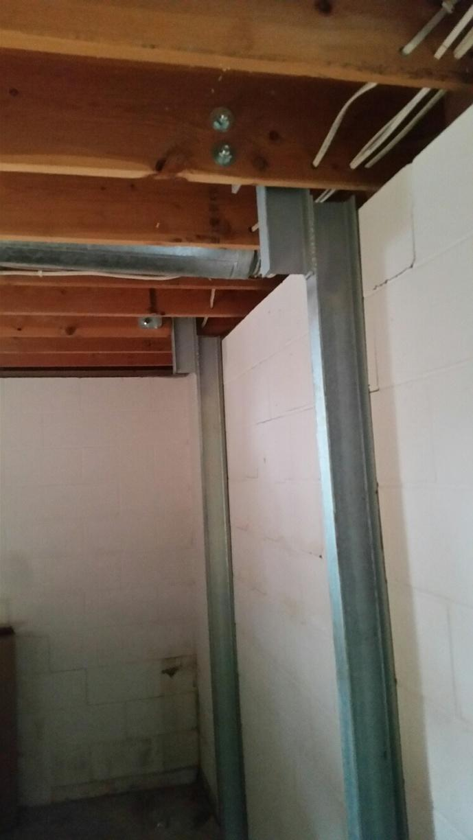 The team had to specially customize the system to fit the homeowners unique basement.