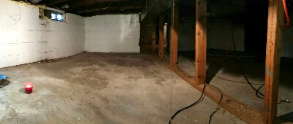 The crawl space before encapsulation was damp and smelly.