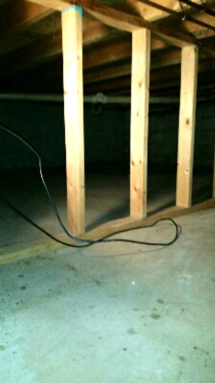 Mold loves damp crawl spaces as much as it loves organic material to feed on. The team got there just in time before mold could jeopardize these wood supports.
