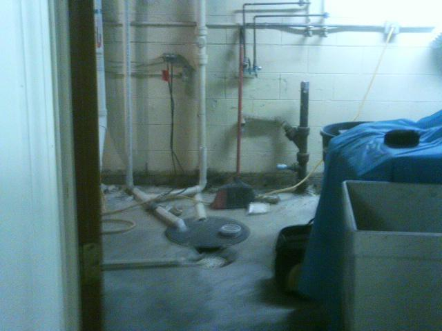 The old sump pump was inefficient at keeping the basement dry.