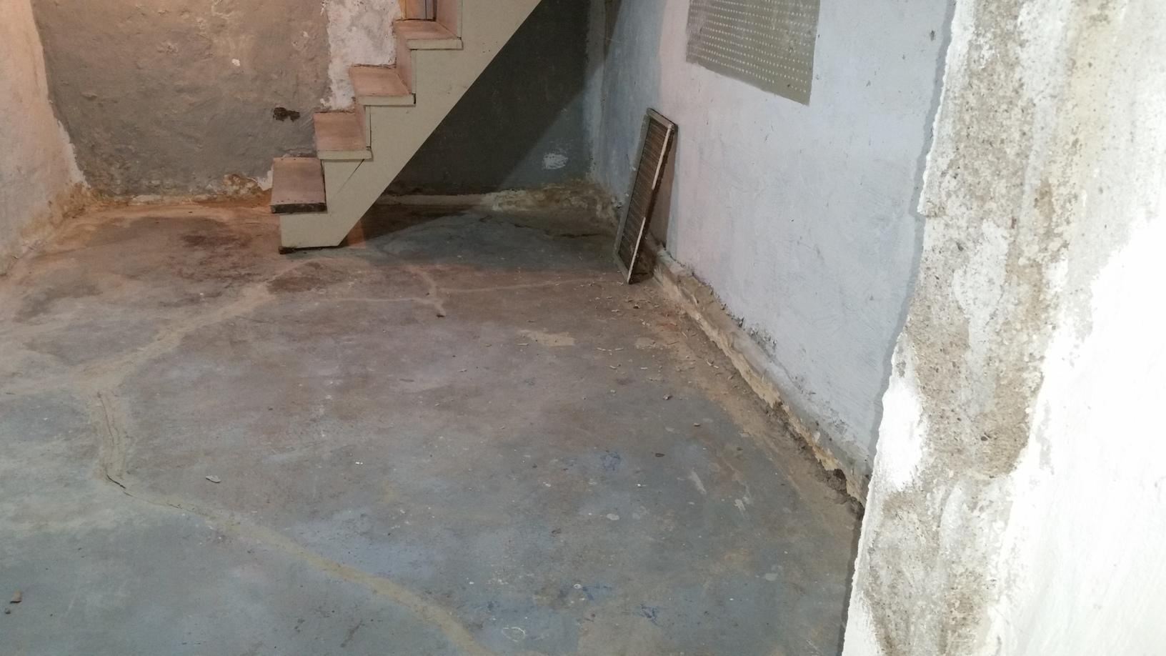 The basement had leaks along the perimeter of the basement.