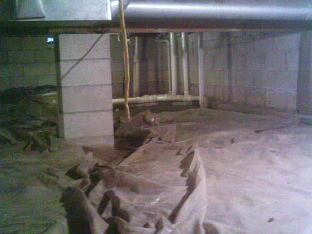 The crawl space was improperly sealed to efficient keep water and water vapor from entering the crawl space.