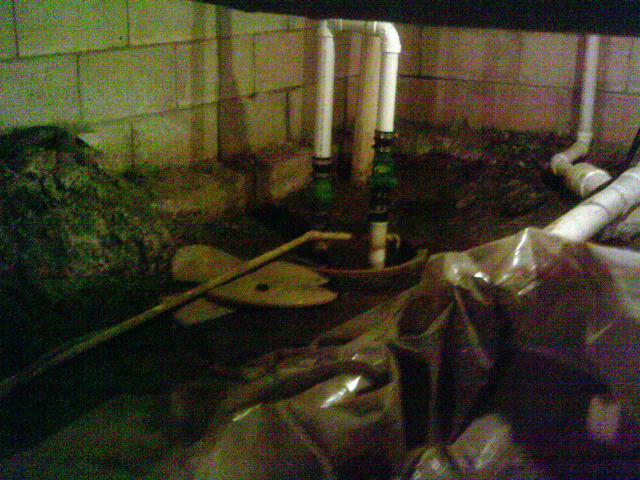 The sump pump before was not helping matters so the team install SuperSump pump system to adequately keep water out.