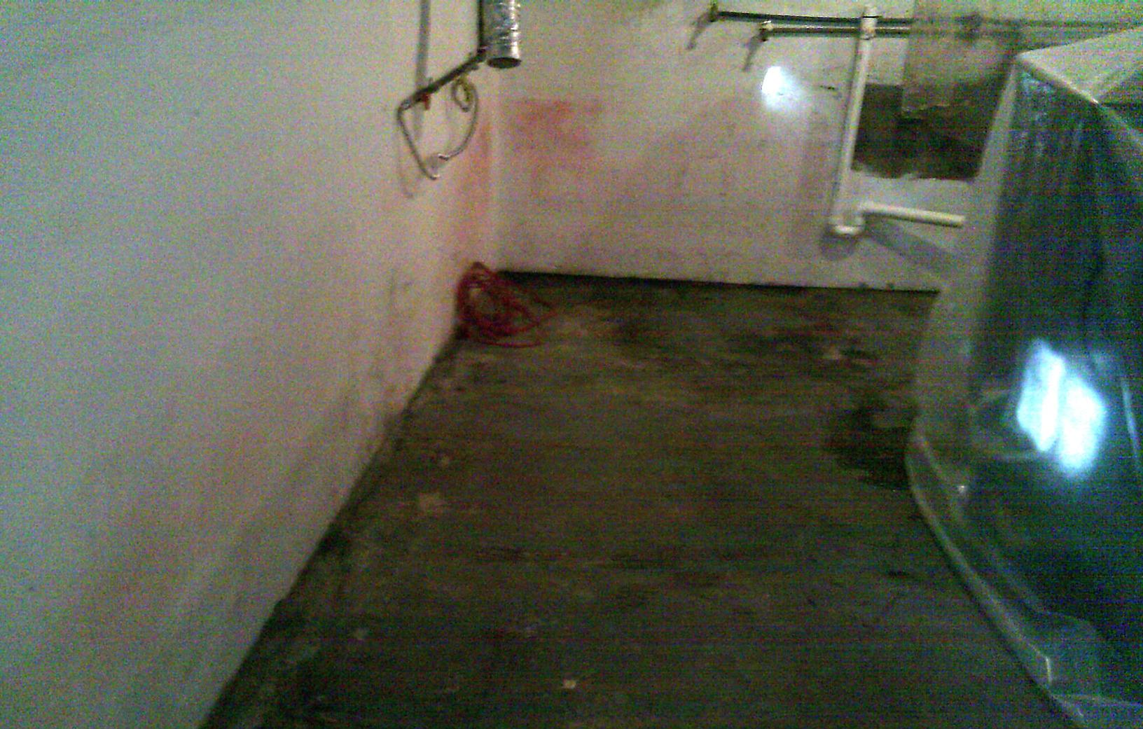 The basement before was wet and vulnerable to repeated water intrusion.
