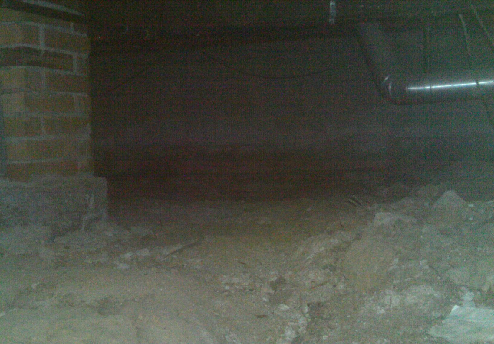 Because the crawl space was not sealed properly, moisture seeped through making the crawl dingy and smelly.